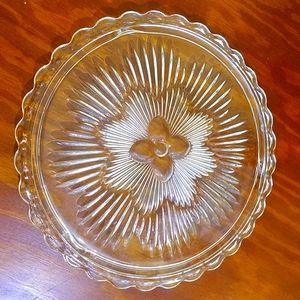 Vintage Flower Platter